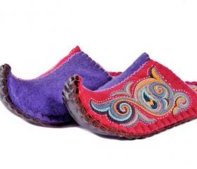 Beautiful felted slippers Aladdin. Wool slippers | home shoes | indoor slippers | felt slippers