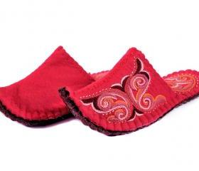 Felted slippers Aladdin. Wool slippers, home shoes, indoor slippers, felt slippers - GIFT PACKAGED