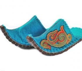 Felted slippers Aladdin. Wool slippers | home shoes | indoor slippers | felt slippers