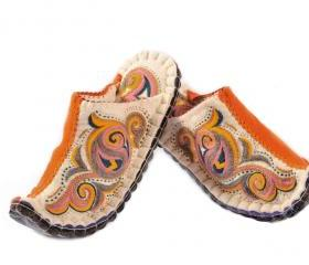 Handmade felt slippers Aladdin. ORIENT STYLE. Wool slippers | home shoes | indoor slippers | felt slippers